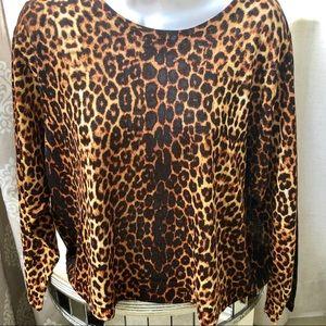 New! Zara animal print crop light sweater.